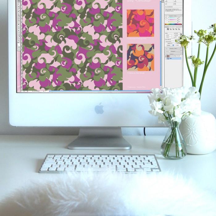 Camouflage-Lining-Print